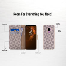 Load image into Gallery viewer, Samsung Galaxy S9 Plus - Park Ave Magnetic Folio Wallet Case - Gold