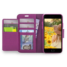Load image into Gallery viewer, iPhone 8 / 7 - Sunset Blvd Folio Wallet Case - Purple
