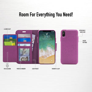 iPhone 8 / 7 - Sunset Blvd Folio Wallet Case - Purple
