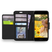 Load image into Gallery viewer, iPhone 8 / 7 - Sunset Blvd Folio Wallet Case - Black