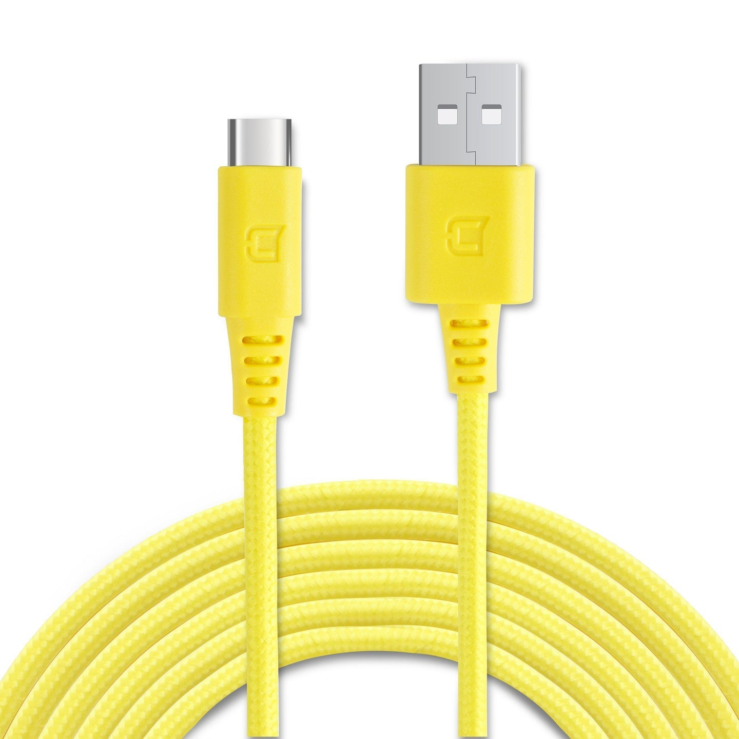Braided Type C Cable - Lemon - 2 Meter