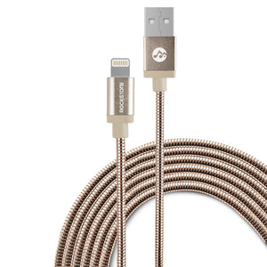 Pet Friendly Metal Braided Lightning Cable - Rose Gold - 1.2 Meter