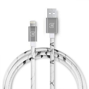 Marble Lightning Cable - White - 1.5 Meter