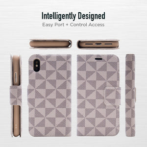 iPhone XR - Park Ave Magnetic Folio Wallet Case - Gold