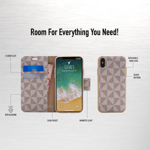 iPhone XS Max - Park Ave Magnetic Folio Wallet Case - Gold