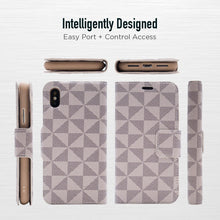 Load image into Gallery viewer, iPhone XS Max - Park Ave Magnetic Folio Wallet Case - Gold