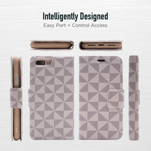 Load image into Gallery viewer, iPhone 8 Plus / 7 Plus - Park Ave Magnetic Folio Wallet Case - Gold