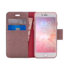Load image into Gallery viewer, iPhone 8 Plus / 7 Plus - Broadway Magnetic Folio Wallet - Rose Gold