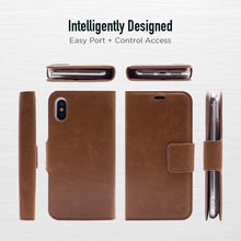 Load image into Gallery viewer, iPhone X / XS - Bond Magnetic Folio Wallet Case