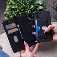 Load image into Gallery viewer, iPhone 11 Pro Max - Bond II Vegan Folio Wallet Case
