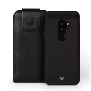 Samsung Galaxy S9 Plus - Vertical Holster Pouch (fits with Skin Shield case)