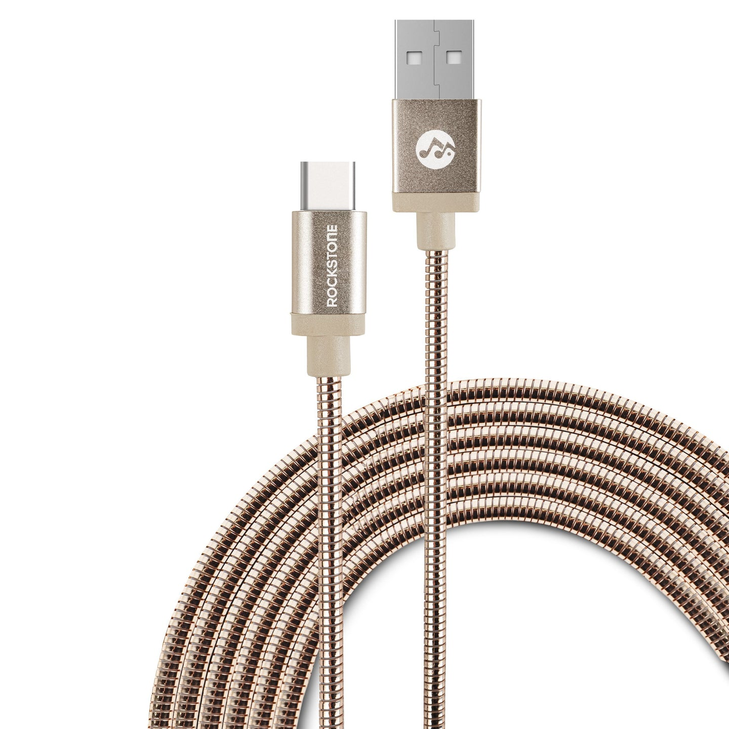 Pet Friendly Metal Braided Type C Cable - Rose Gold - 1.2 Meter