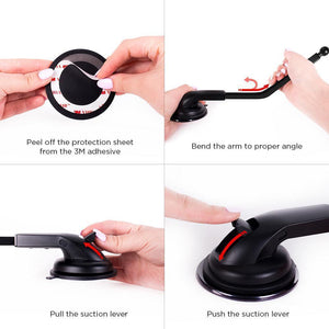 Car Dash & Windshield Mount Holder - Flexible Gooseneck - Simpl Grip