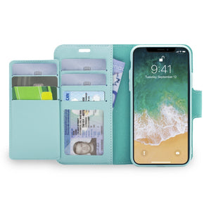iPhone XS Max - Sunset Blvd Magnetic Wallet Folio Case- Sky Blue