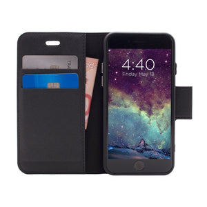 iPhone SE - Broadway Magnetic Wallet Folio Case - Black