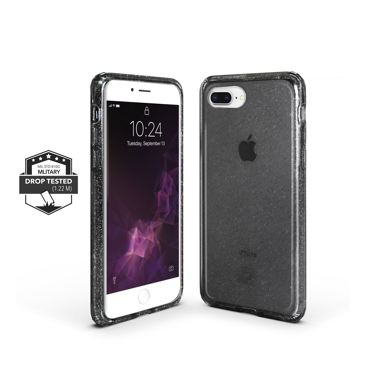 iPhone SE Slim Clear Protective Case - Black Glam