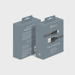Braided Type C Cable - Space Grey - 2 Meter