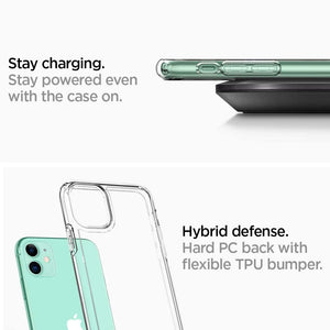 Spigen Ultra Hybrid Designed for Apple iPhone 11 Case - Crystal Clear