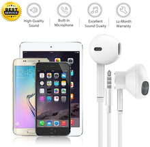 Load image into Gallery viewer, Headphones/Earbuds 3.5mm Wired Headphones Noise Isolating with Built-in Microphone (2 Pack) Aux