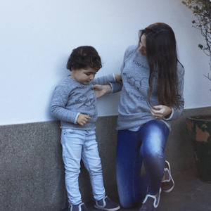Sudadera Happines Gris