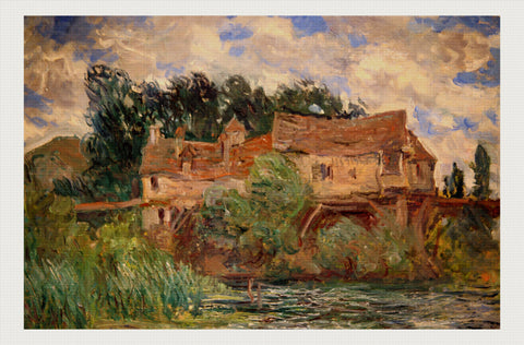 Houses on the Old Bridge at Vernon, Claude Monet