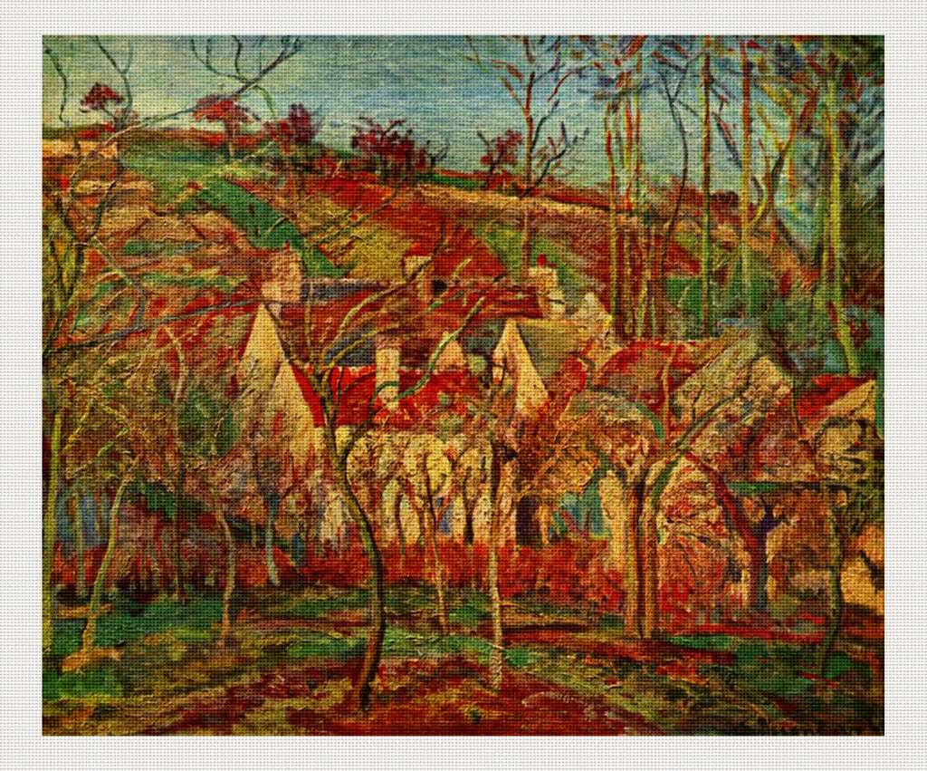 Red Roofs, Camille Pissarro