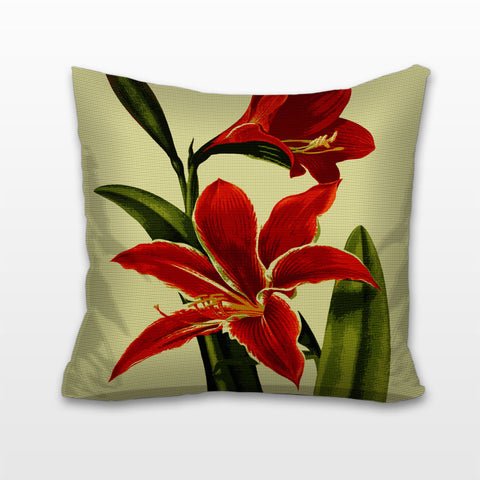 Amaryllis, Needlepoint Cushion, Pillow