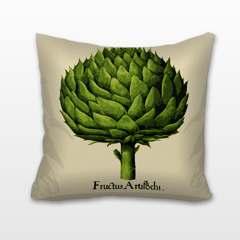 Artichoke, Needlepoint Cushion, Pillow
