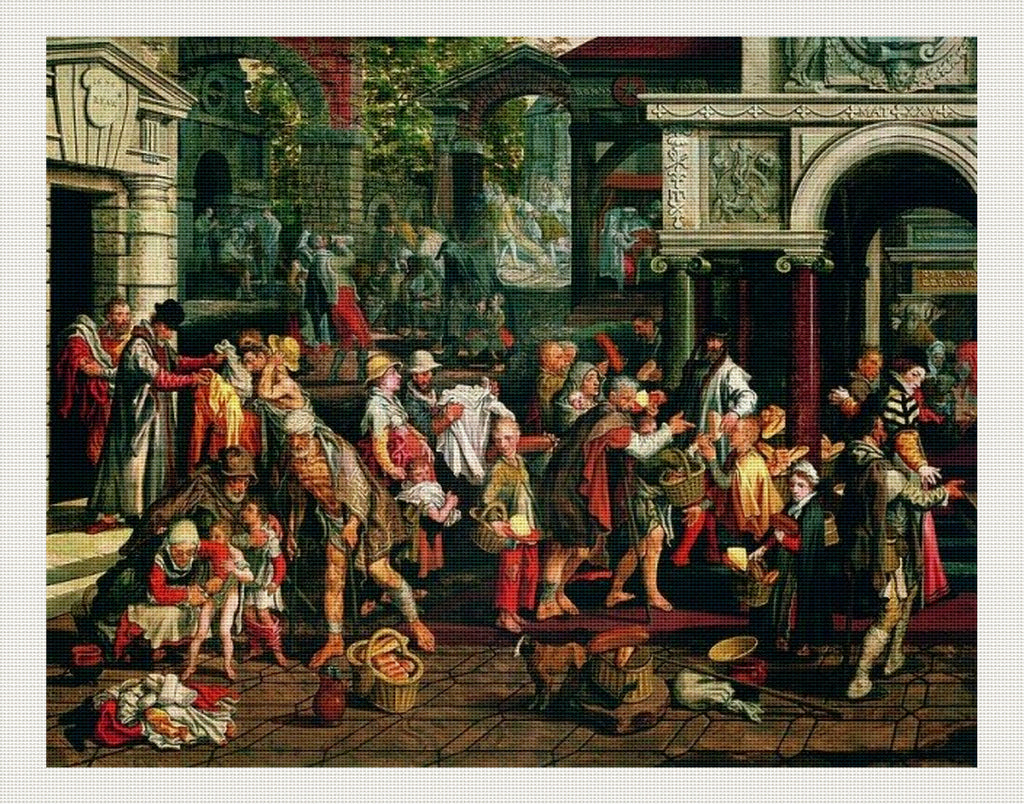 Deeds of Christian Charity, Pieter Aertsen