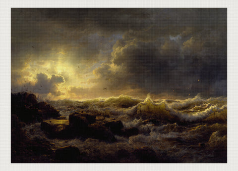 Clearing Up-Coast of Sicily, Andreas Achenbach