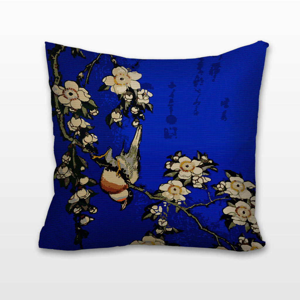 Modern Needlepoint Kits For Pillows : Bullfinch & Weeping Cherry, Needlepoint Cushion, Pillow ? Chelsea Needlepoint product