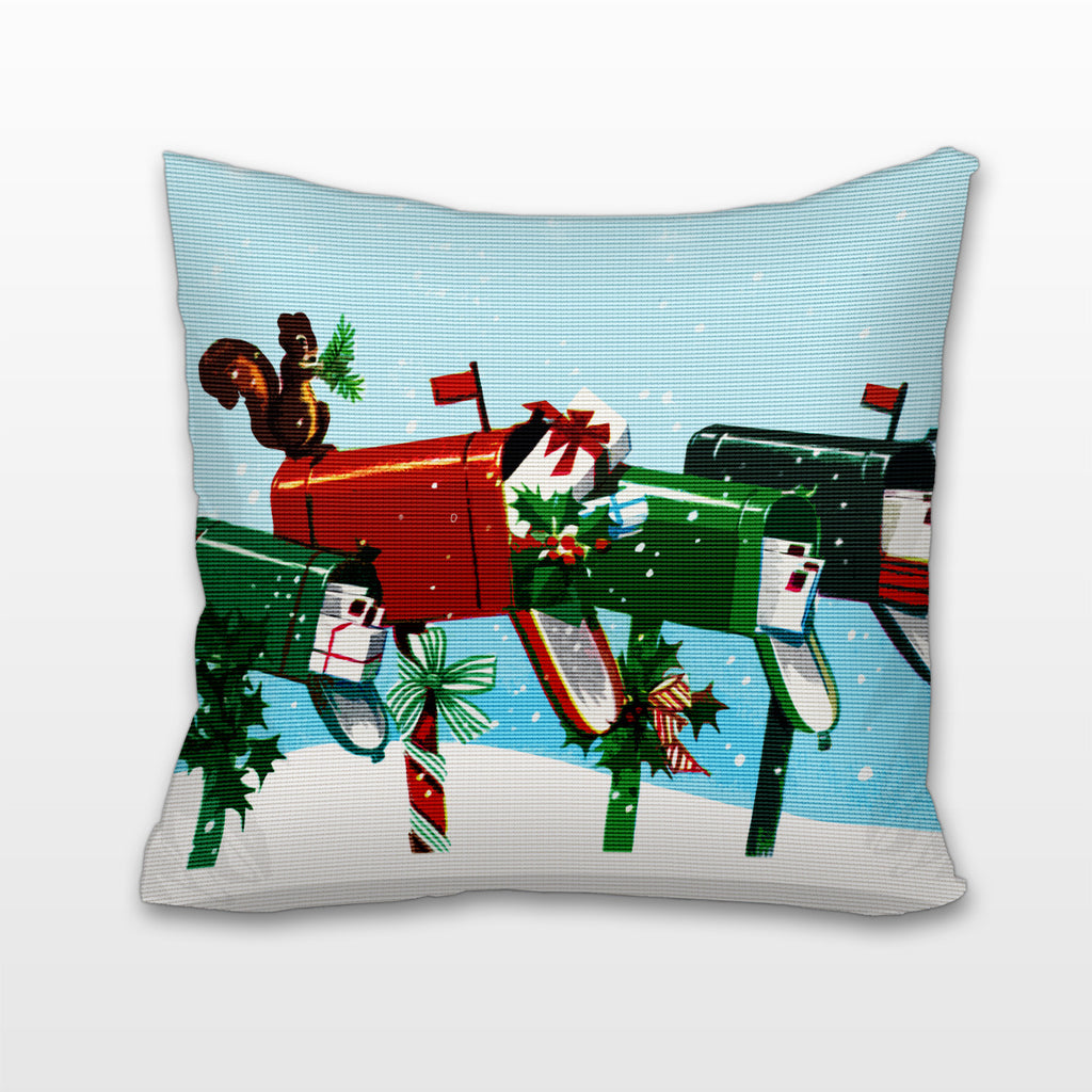 Christmas Mail, Cushion, Pillow