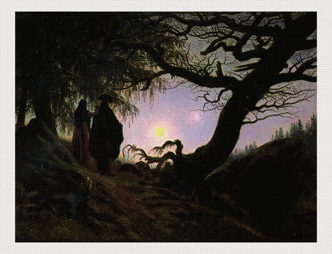 Man and Woman Contemplating the Moon, Caspar David Friedrich