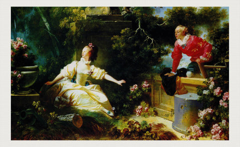 The Meeting, Jean-Honoré Fragonard