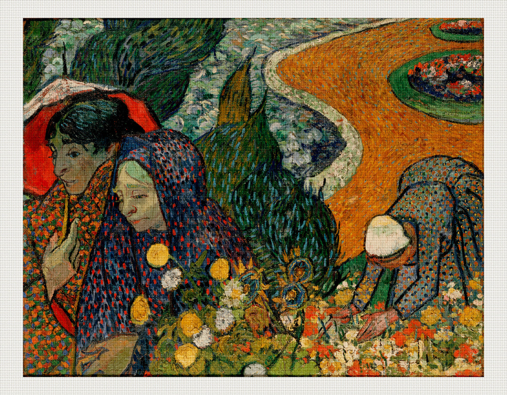 Memory Of The Garden At Etten (Ladies Of Arles), Vincent Van Gogh