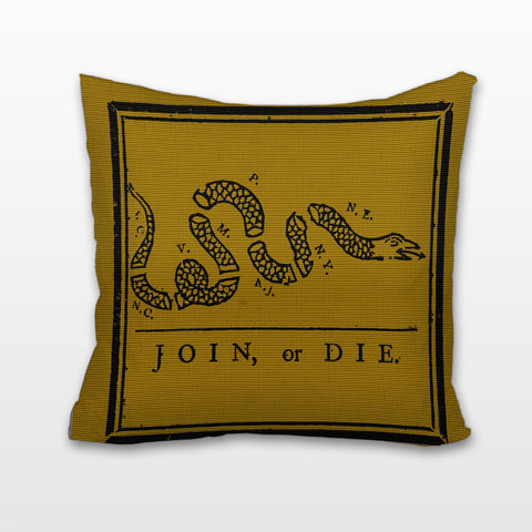 Join or Die, Cushion, Pillow