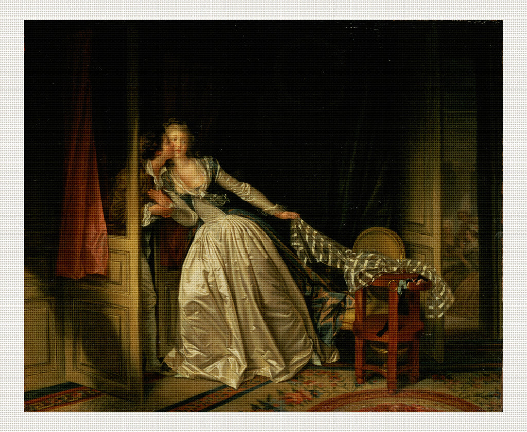 The Stolen Kiss, Jean-Honoré Fragonard