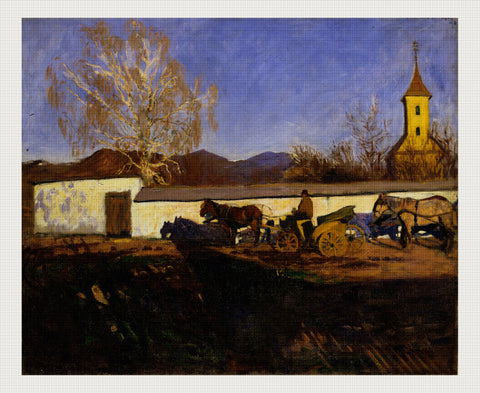 Evening in March, Károly Ferenczy