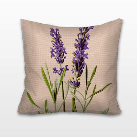 Lavender Sprigs, Needlepoint Cushion, Pillow