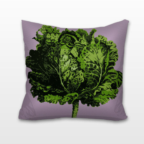 Lettuce, Needlepoint Cushion, Pillow