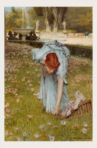 Flora - Spring in the Gardens of the Villa Borghese, Lawrence Alma-Tadema