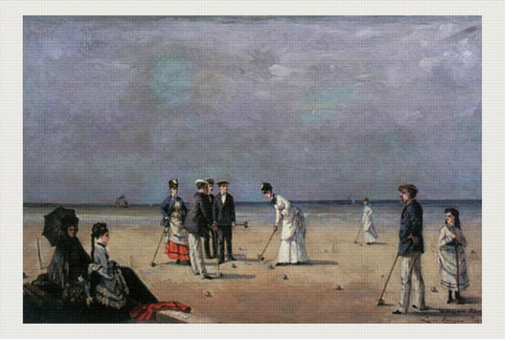 A Game of Croquet, Louise Abbéma