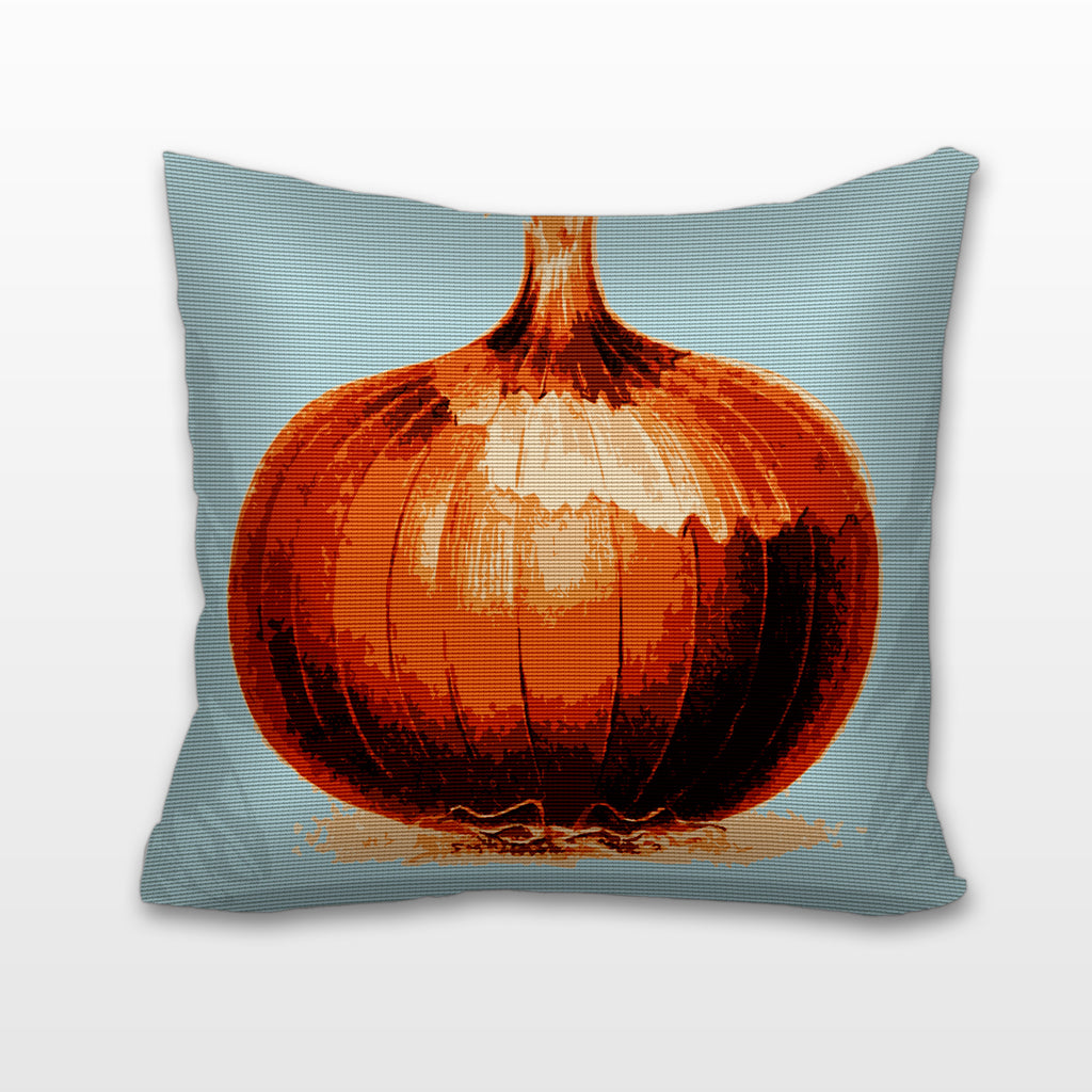 Onion, Needlepoint Cushion, Pillow
