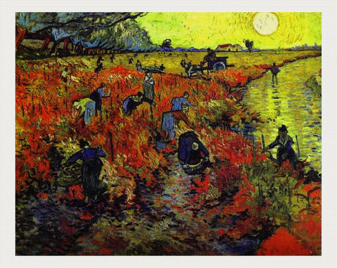 Red Vineyards, Vincent van Gogh