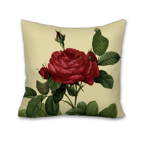 Rosa Gallica Pontianak, Cushion, Pillow