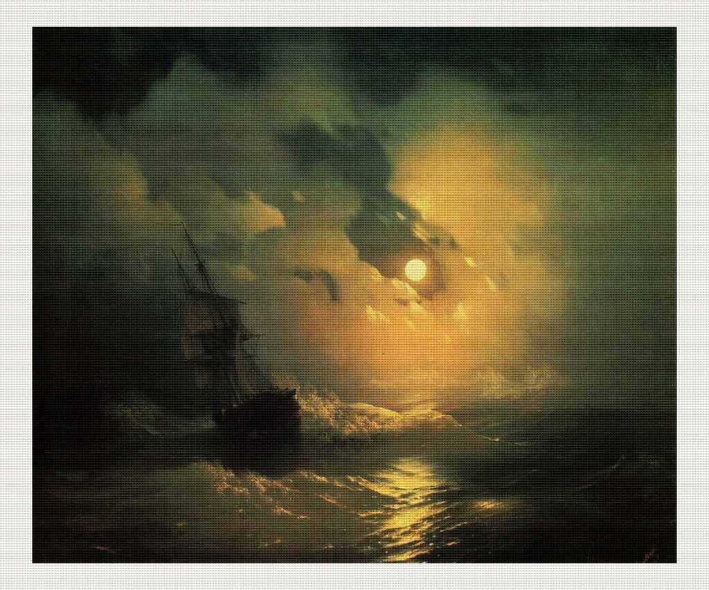 Stormy Sea At Night, Ivan Aivazovsky