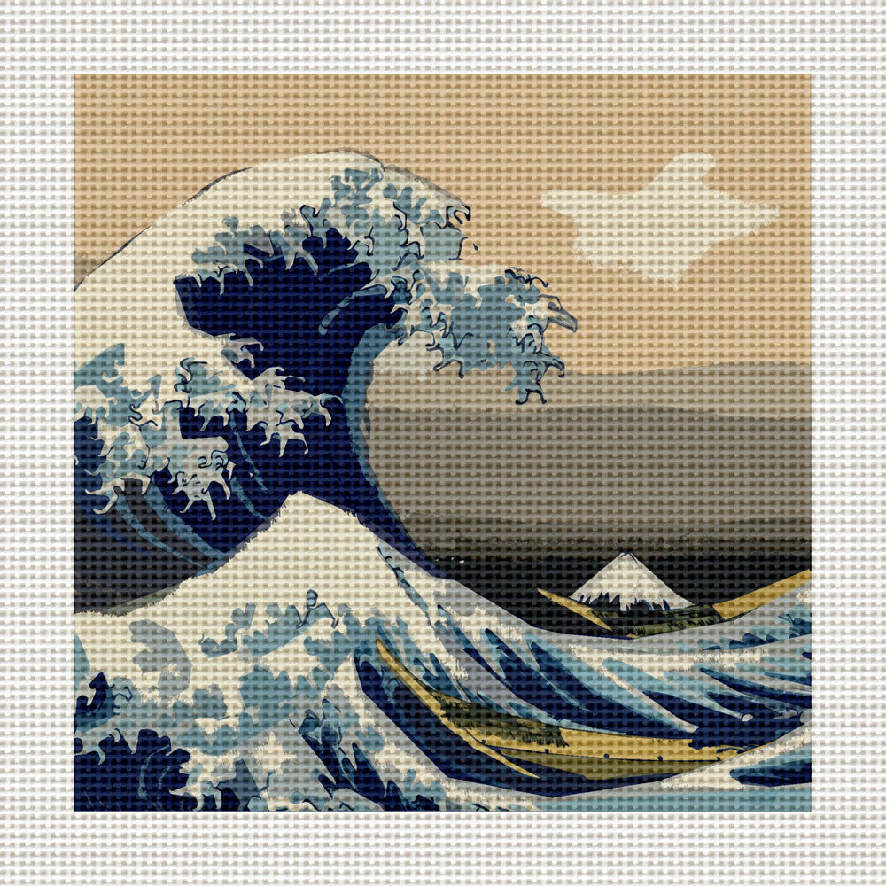 "The Great Wave off Kanagawa, 5 x 5"" Miniature"