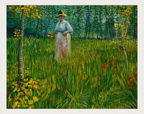 Femme Dans un Jardin (A Woman In The Garden), Vincent van Gogh