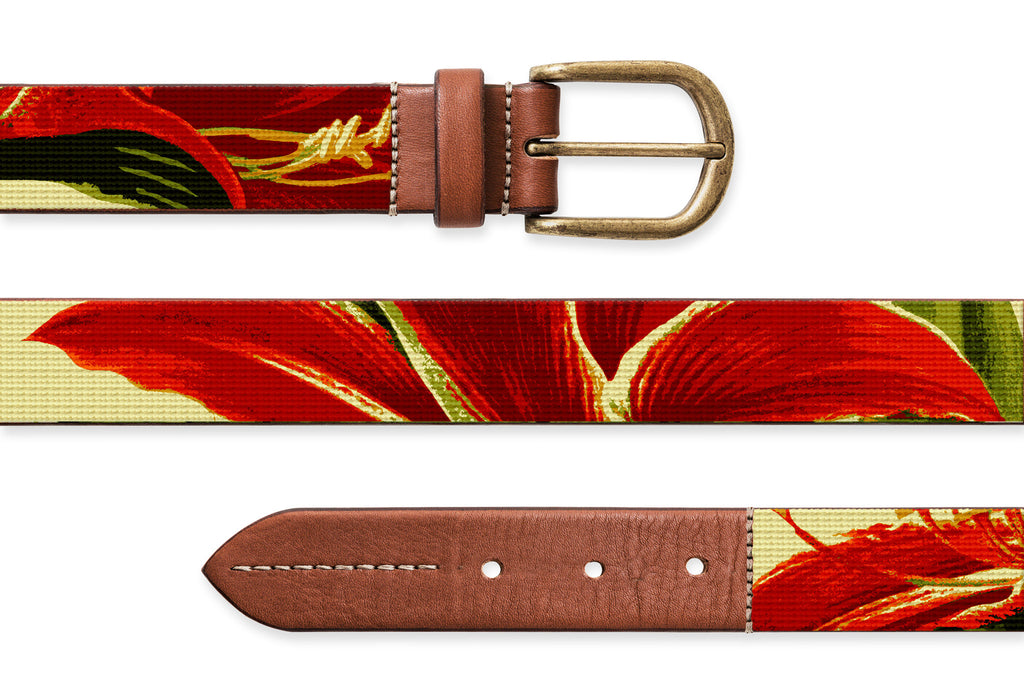 Amaryllis, Needlepoint Belt
