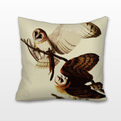 Barn Owls, Cushion, Pillow